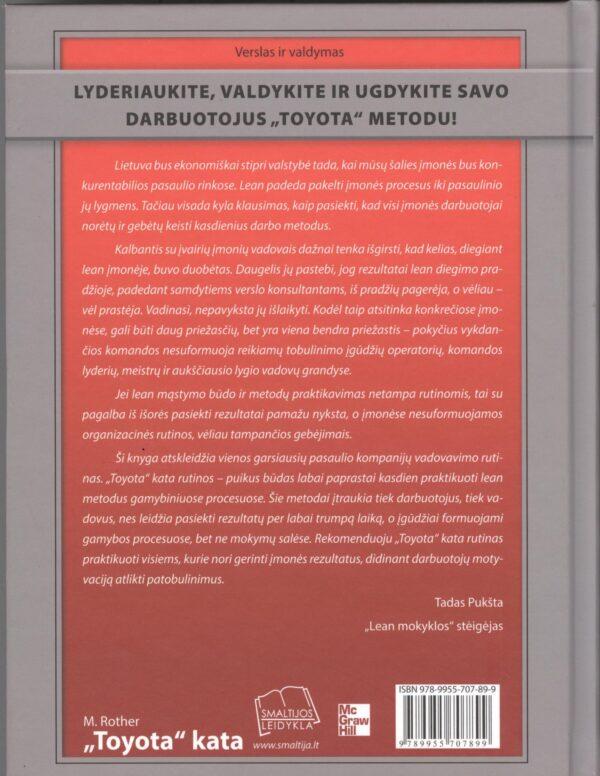 LEAN knyga Toyota KATA aprašymas